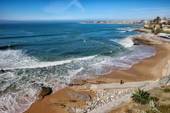 Beach in Resort Town of Estoril - stock photo