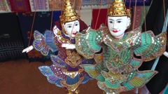 Marionettes, Northern Thailand Stock Footage