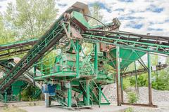 Plant for gravel extraction Stock Photos