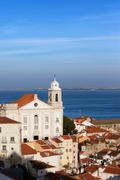 Alfama District in the City of Lisbon - stock photo