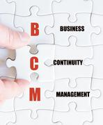 Concept image of Business Acronym BCM as Business Continuity Management Stock Photos