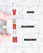 Concept image of Business Acronym VRM as Vendor Relationship Management - stock photo