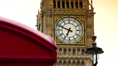 ULTRA HD 4K real time shot,The London Skyline Elizabeth Tower (Big Ben) Stock Footage