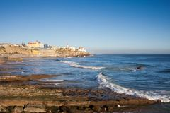 Atlantic Ocean Coast in Estoril - stock photo