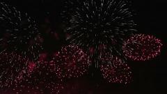 Fireworks display - stock footage