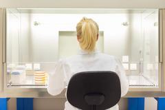Life scientist researching in the laboratory. - stock photo