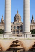 National Art Museum of Catalonia in Barcelona - stock photo