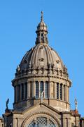 Dome of the National Art Museum of Catalonia in Barcelona Stock Photos