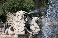 Fountain at Parc de la Ciutadella in Barcelona - stock photo