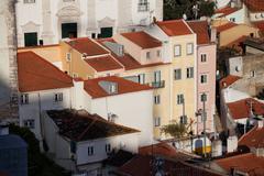Alfama District Houses in Lisbon - stock photo