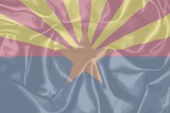 Arizona State Silk Flag Stock Illustration