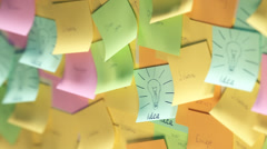 Loopable Idea Text On Adhesive Note Stock Footage