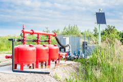 Water pumping system Stock Photos