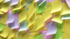 Loopable Blank Colorful Adhesive Note - stock footage