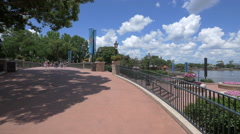 Beautiful afternoon at the Walt Disney World Resort, Orlando Stock Footage