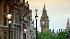 ULTRA HD 4K real time shot,Trafalgar Square in London, UK Stock Footage