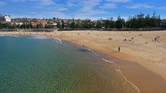 Coogee Beach, Sydney in 4k Stock Footage