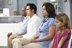 Patients In Doctors Waiting Room Kuvituskuvat