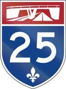 Quebec Highway Shield 25 Stock Illustration