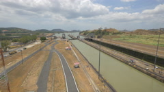 Miraflores Locks in Panama Stock Footage