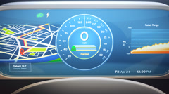 Speedometer Of Electric Car Stock Footage