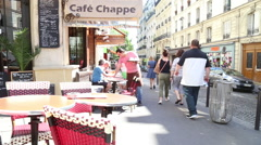 Parisian Cafe Stock Footage