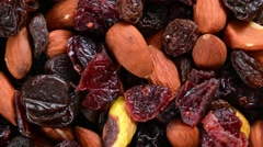 Gourmet trail mix Stock Footage