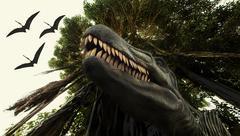 Ancient extinct dinosaur tyrannosaurus Stock Photos