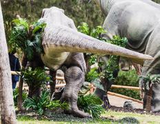 Ancient extinct dinosaur Stock Photos