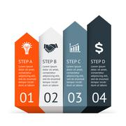 Vector arrows infographic. Template for diagram, graph, presentation and chart Piirros