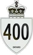Ontario Highway Shield 400 - stock illustration