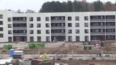 Stock Video Footage of People builders work in construction site