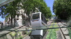 Stock Video Footage of The Montmartre funicular to Sacre Coeur