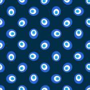 Evil eye pattern Stock Illustration