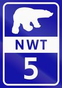 Northwest Territory Highway 5 - stock illustration