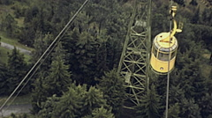 Sochi 1985: cableway cabin Stock Footage