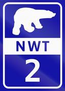 Northwest Territory Highway 2 - stock illustration