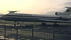Sochi 1985: Aerflot aircraft at the airport Stock Footage
