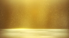 Glitter dust on yellow background seamless loop Stock Footage