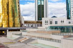 Government Buildings In Astana Stock Photos