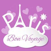 Tower Eiffel with Paris Stock Illustration