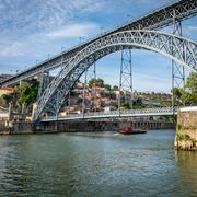 Bridge of Luis I over Douro river in Porto, Portugal. - stock photo