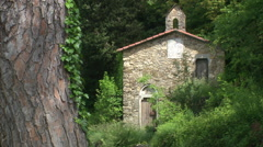 ITALY - antic chapel in Rapallo - Liguria - stock footage