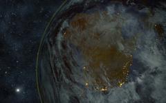 earth night australia - stock illustration