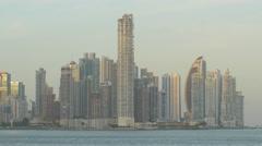 Great panoramic 4k view of Panama Stock Footage