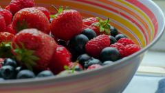 Mix of different wild berries Stock Footage