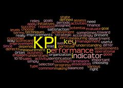 Stock Illustration of Word cloud of key performance indicator (kpi) and its related words