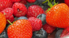 Mix of wild berries Stock Footage