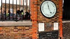 Greenwich 24 Hour Clock  British standards and measures of length - stock footage