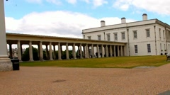 The Queen's House of Greenwich in London, England Stock Footage